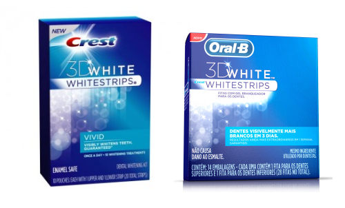 Crest e Oral-B Whitestrips: Embalagens
