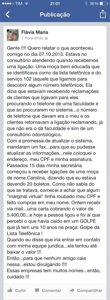 Relato (Facebook)