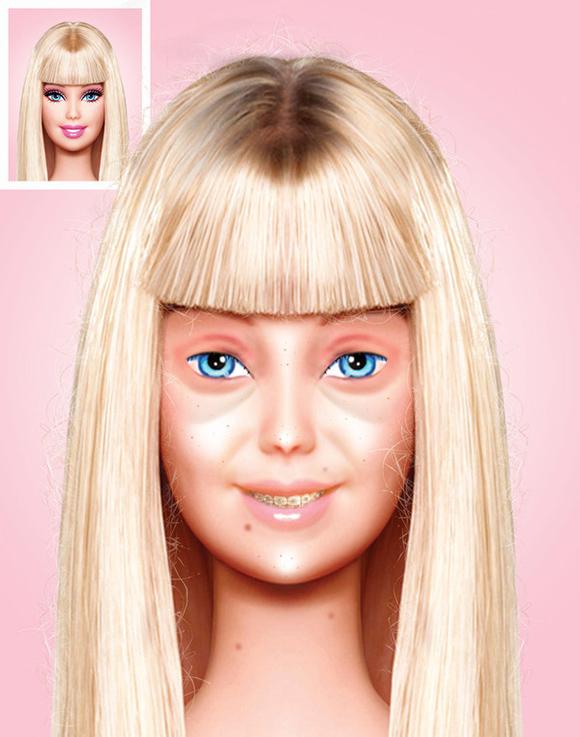 Barbie sem maquiagem