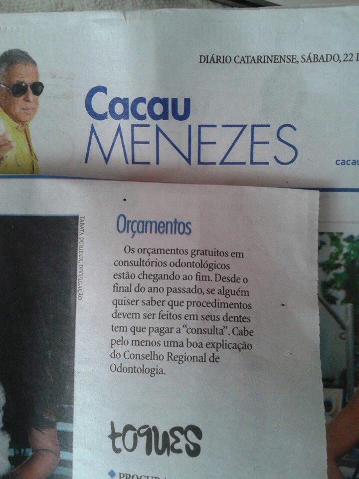 Nota de Cacau Menezes