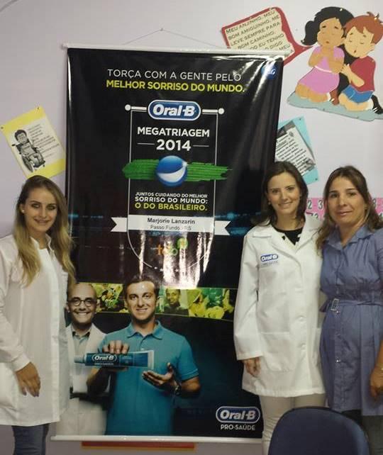 TSB Valesca, eu e Adriana, diretora da EMEF Romana Gobbi