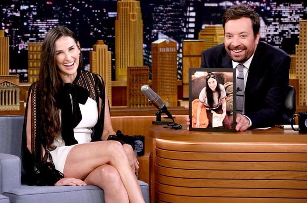 Demi Moore e Jimmy Fallon